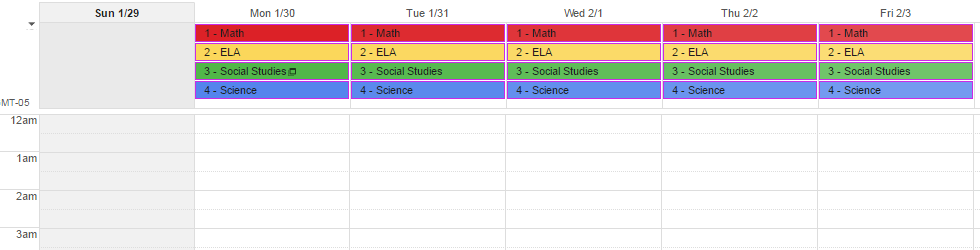 How to Use Google Calendar as Your Homework Planner - Part 2