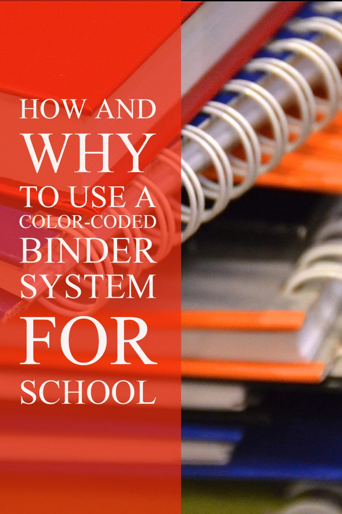 How and Why to Use a Color-Coded Binder System