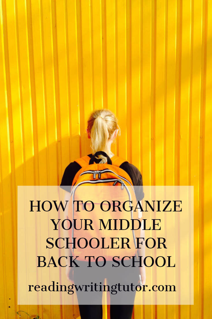 How to Organize Your Middle Schooler for Back to School