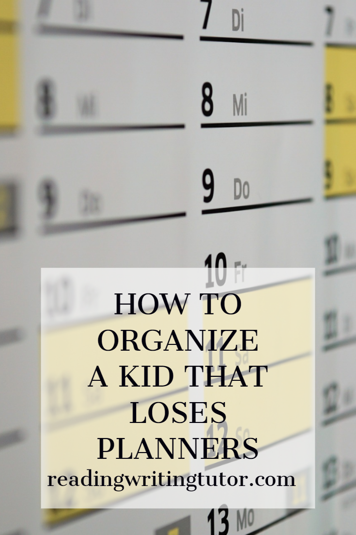 How to Organize a Kid Who Keeps Losing Planners