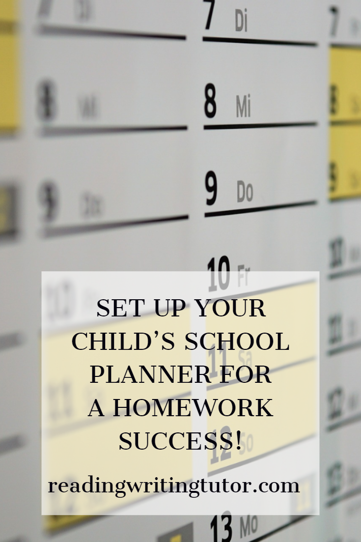 How to set up your child's paper planner for back-to-school success